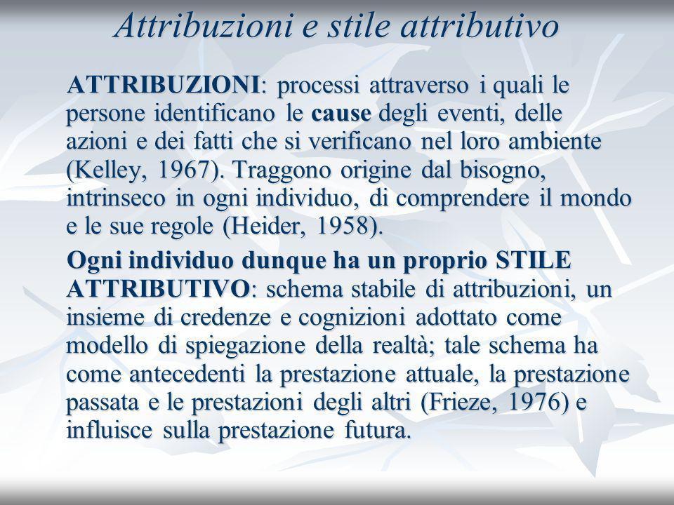 Attribuzioni e stile attributivo