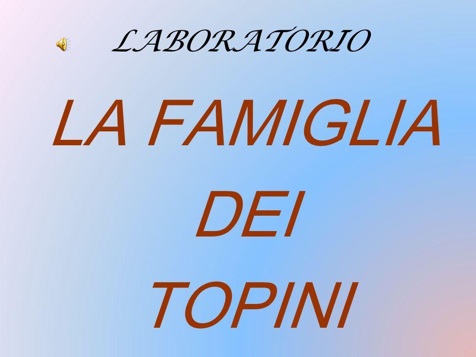 LABORATORIO LA FAMIGLIA DEI TOPINI