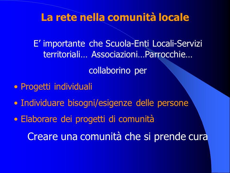 La rete nella comunità locale