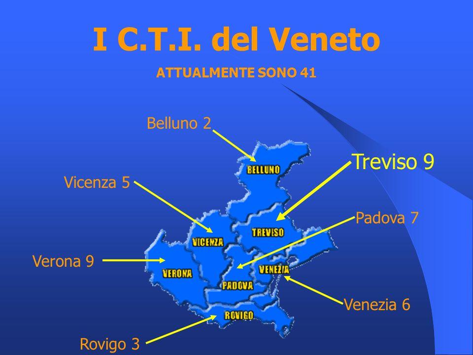I C.T.I. del Veneto Treviso 9 Belluno 2 Vicenza 5 Padova 7 Verona 9