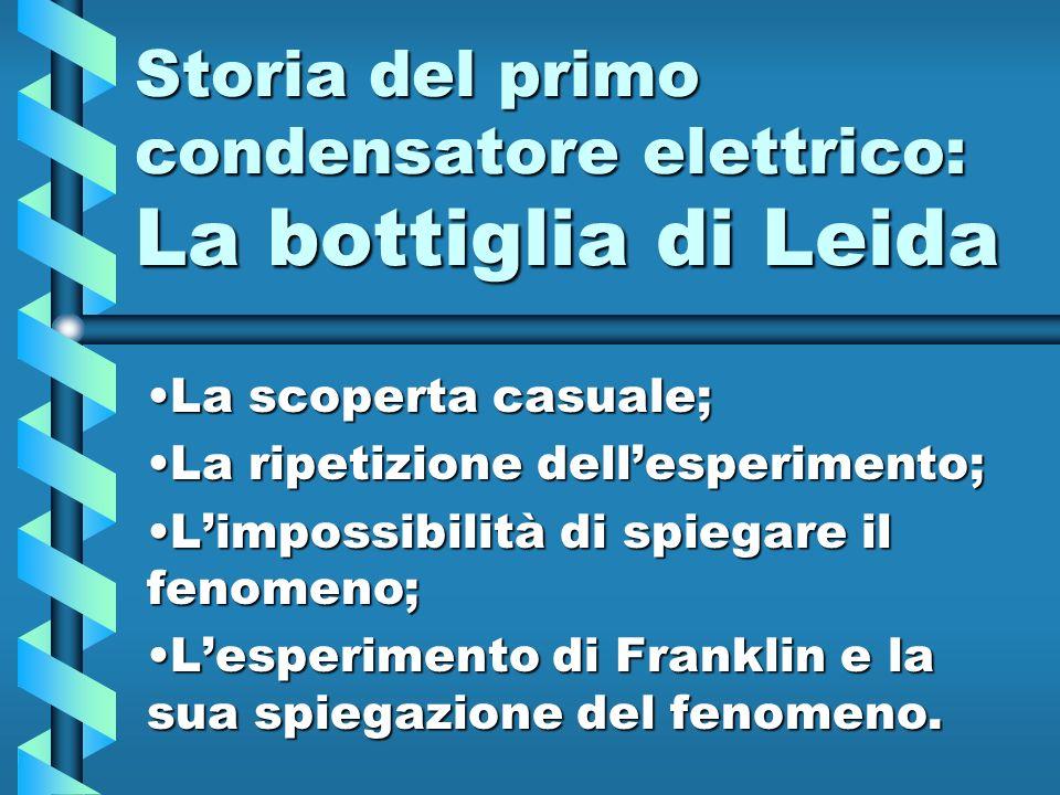 Storia del primo condensatore elettrico: La bottiglia di Leida