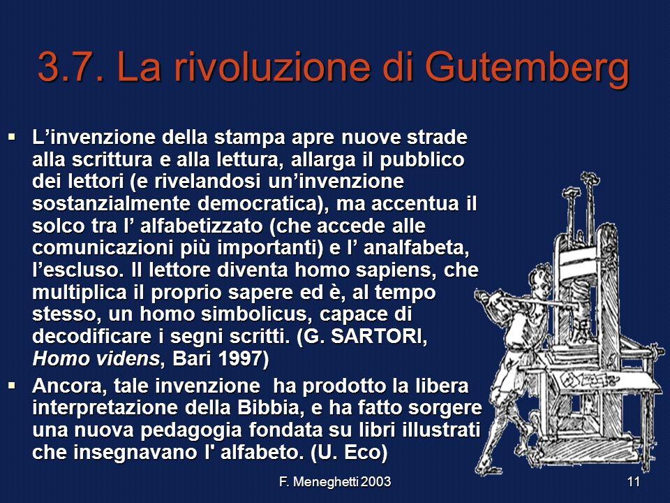 3.7. La rivoluzione di Gutemberg