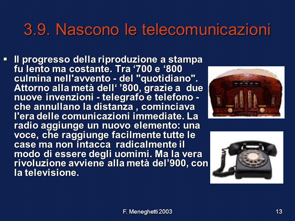 3.9. Nascono le telecomunicazioni