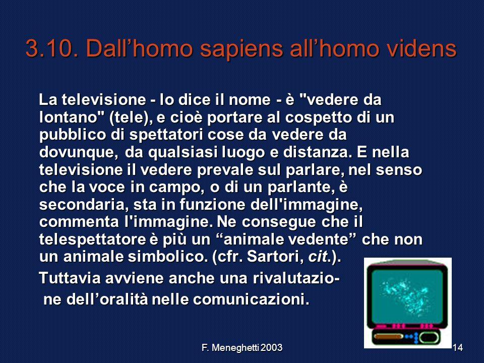 3.10. Dall'homo sapiens all'homo videns