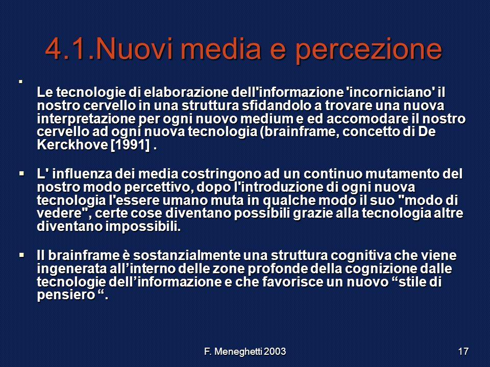4.1.Nuovi media e percezione