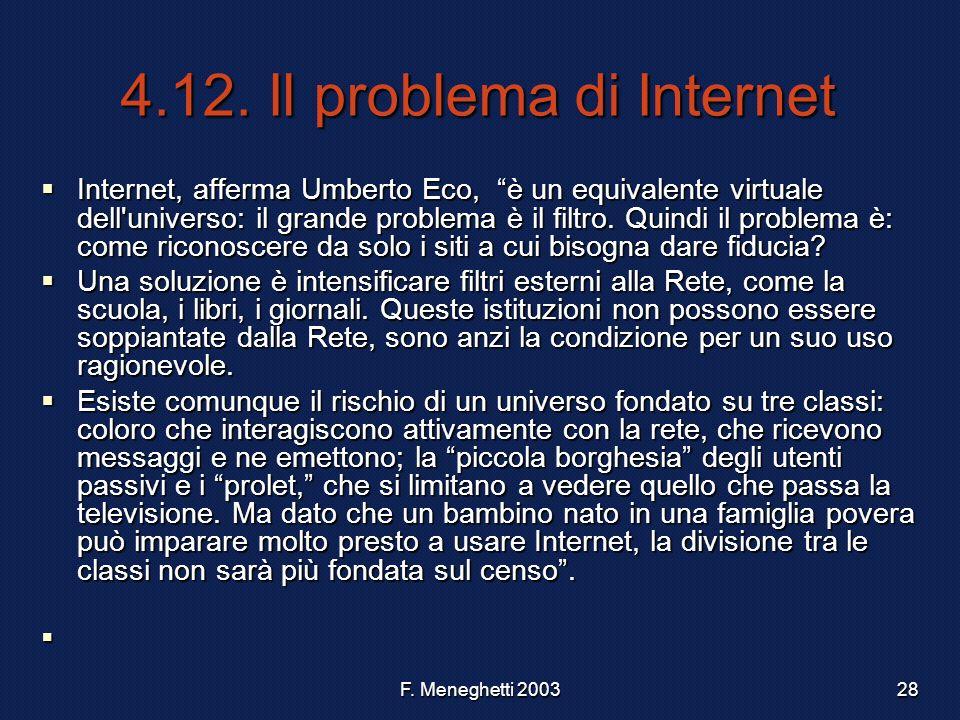 4.12. Il problema di Internet