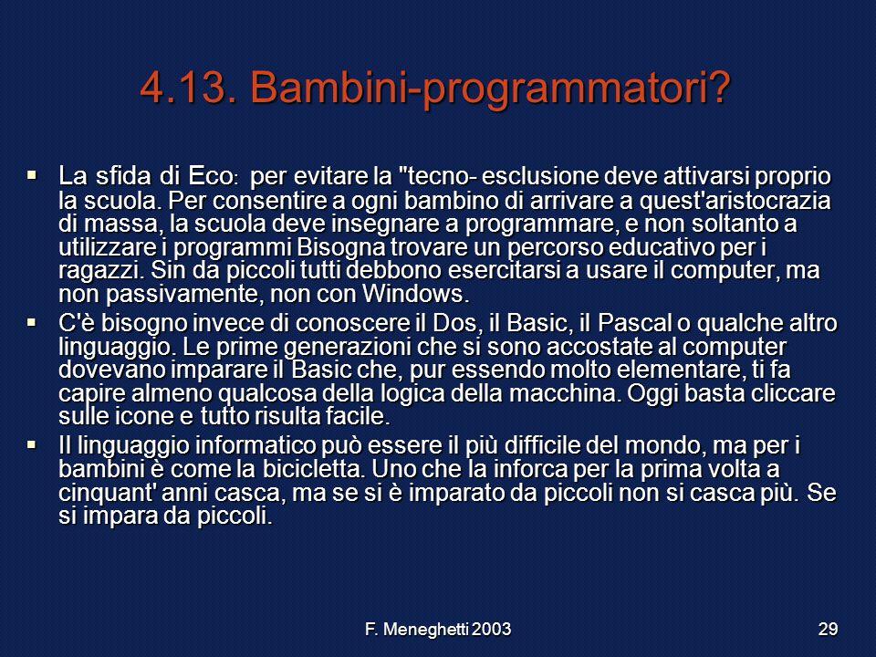 4.13. Bambini-programmatori