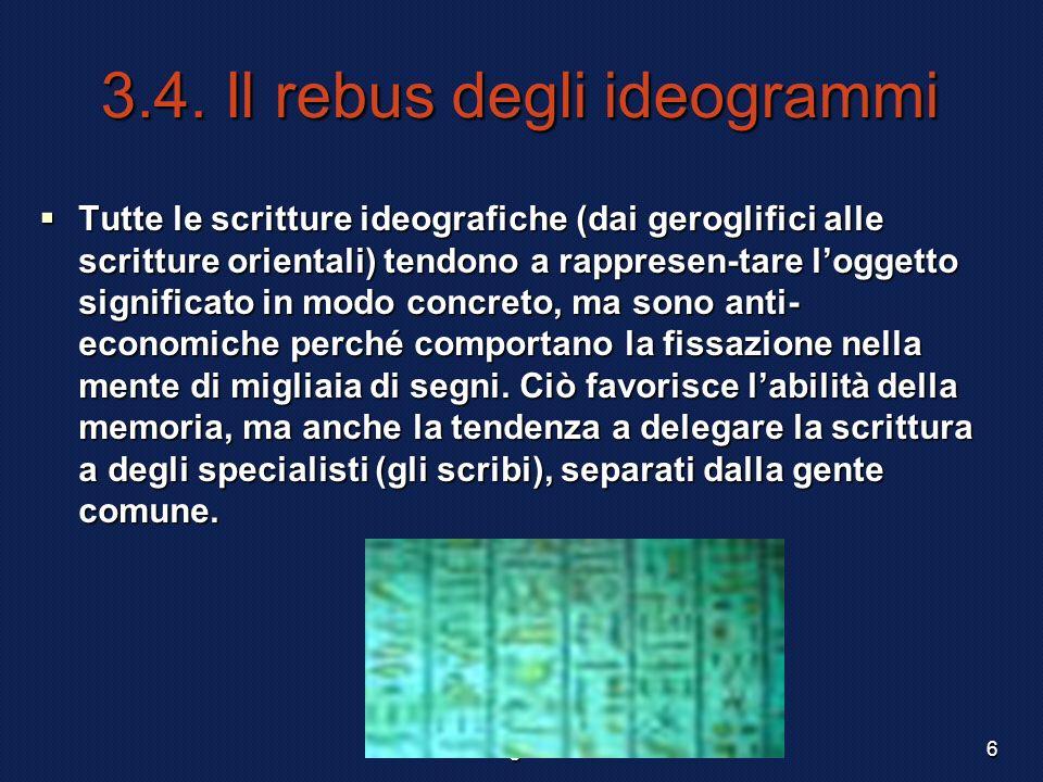3.4. Il rebus degli ideogrammi