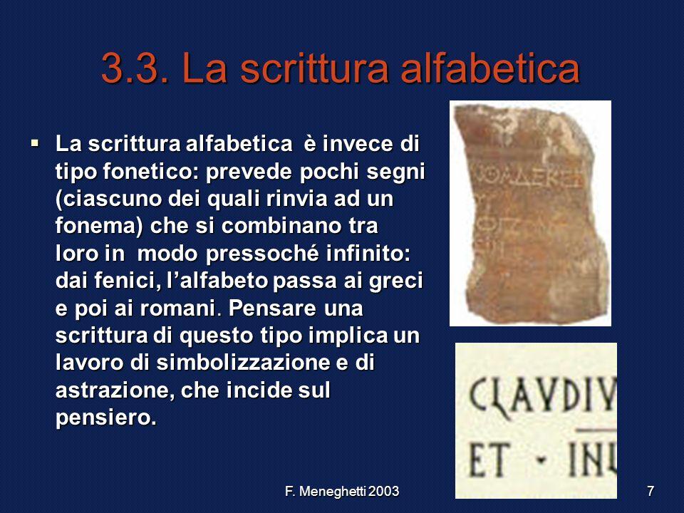 3.3. La scrittura alfabetica