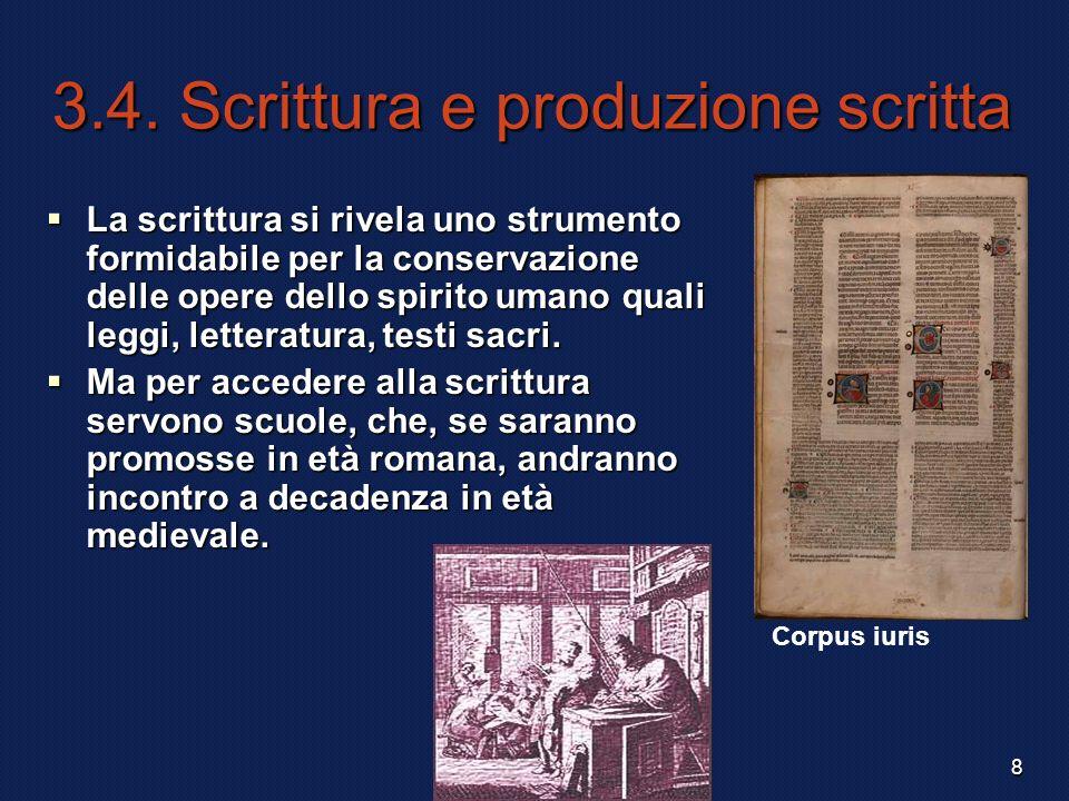 3.4. Scrittura e produzione scritta