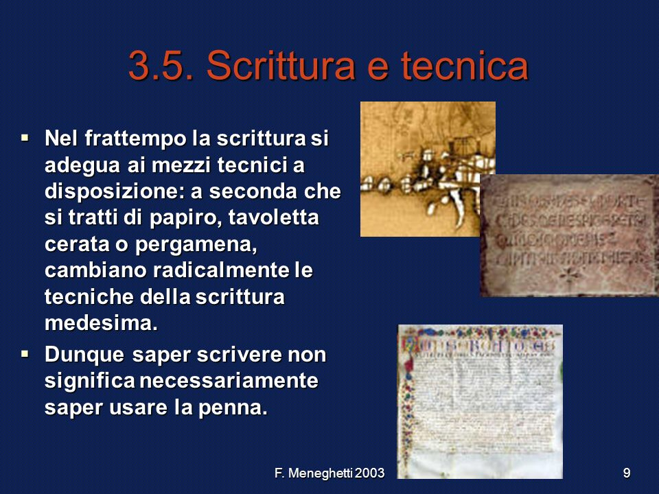 3.5. Scrittura e tecnica