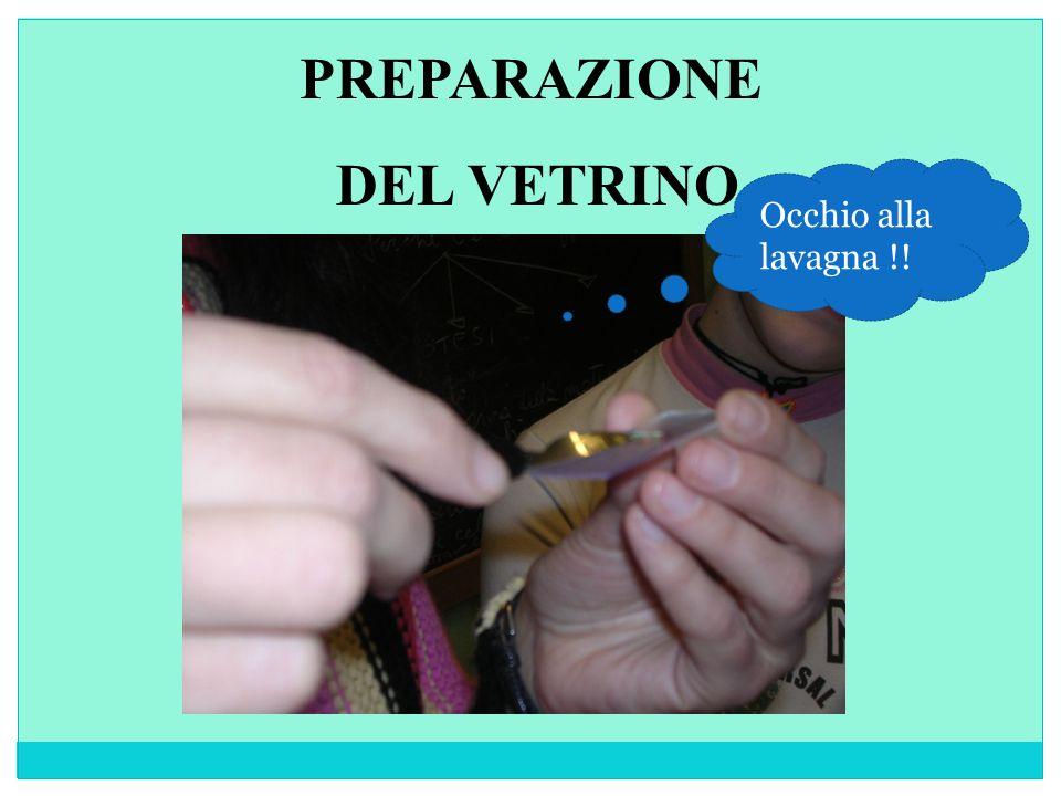 PREPARAZIONE DEL VETRINO
