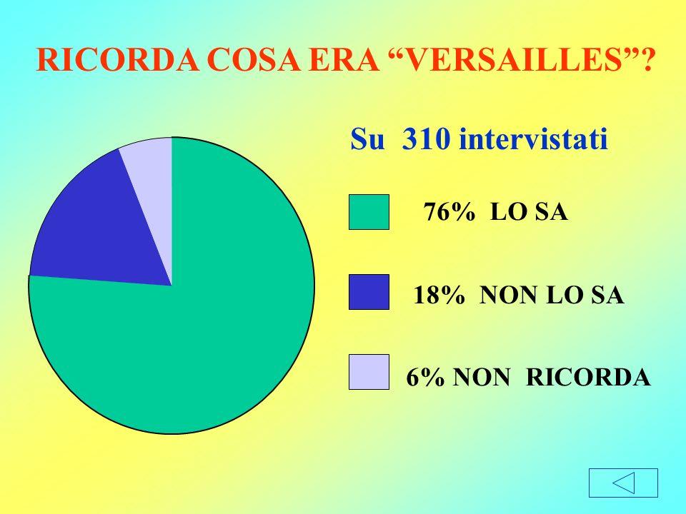 RICORDA COSA ERA VERSAILLES
