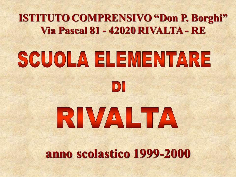 anno scolastico 1999-2000 SCUOLA ELEMENTARE DI RIVALTA