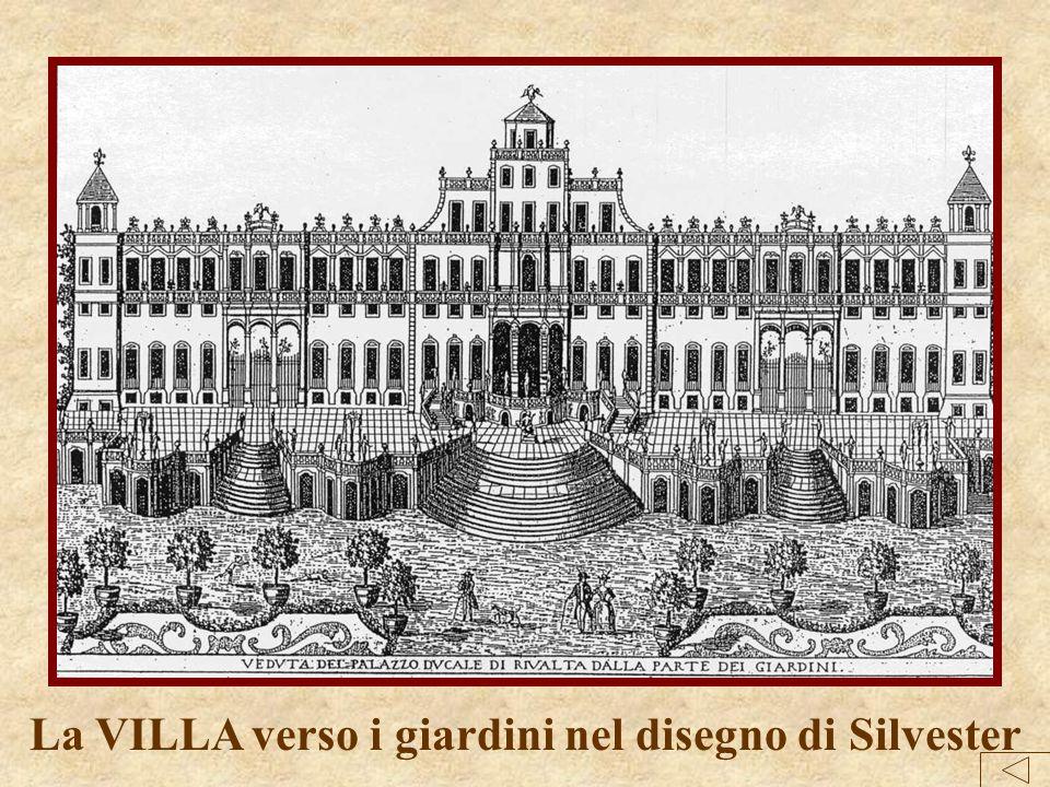 La VILLA verso i giardini nel disegno di Silvester
