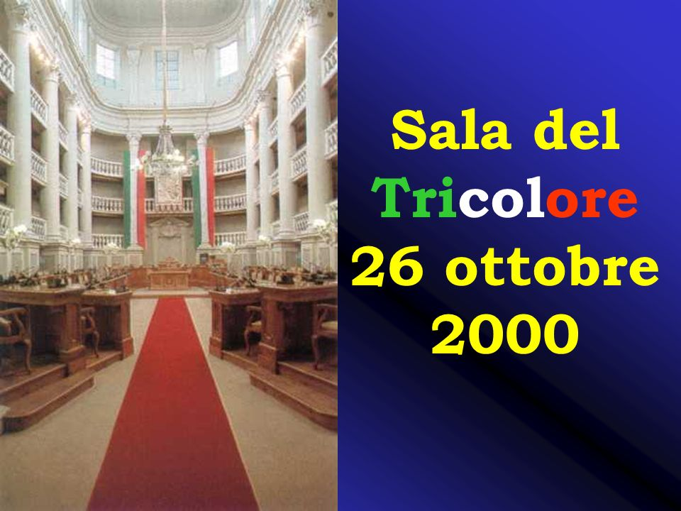 Sala del Tricolore 26 ottobre 2000