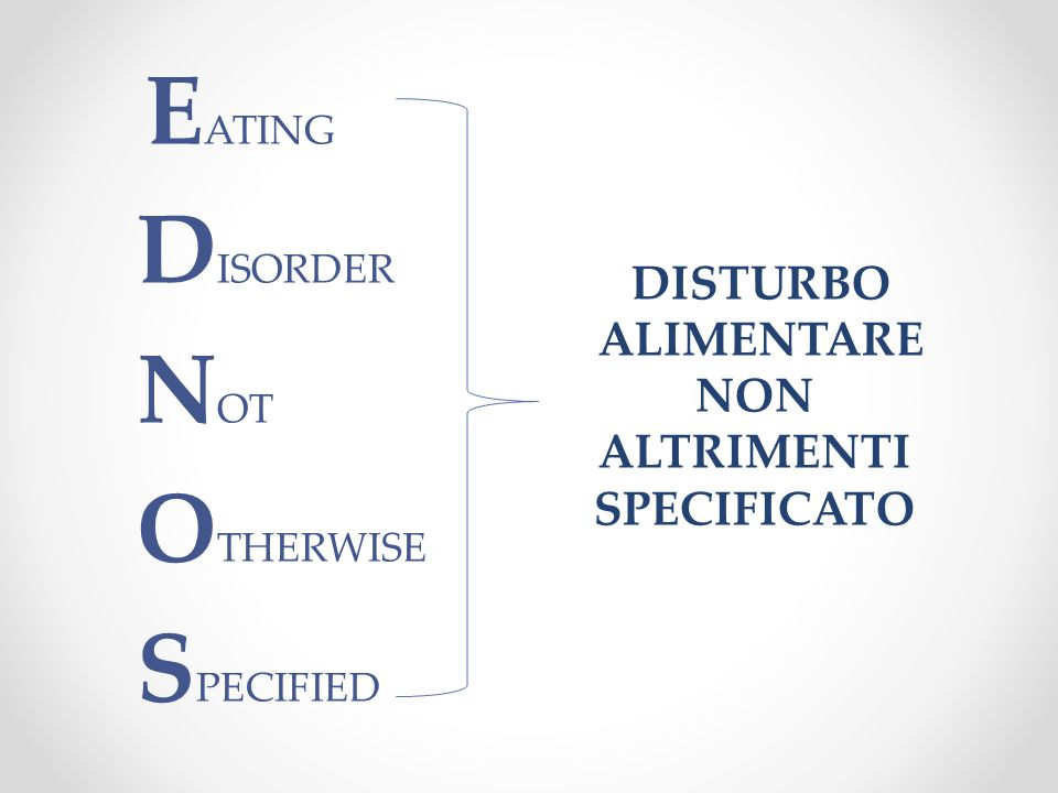 EATING DISORDER NOT OTHERWISE SPECIFIED
