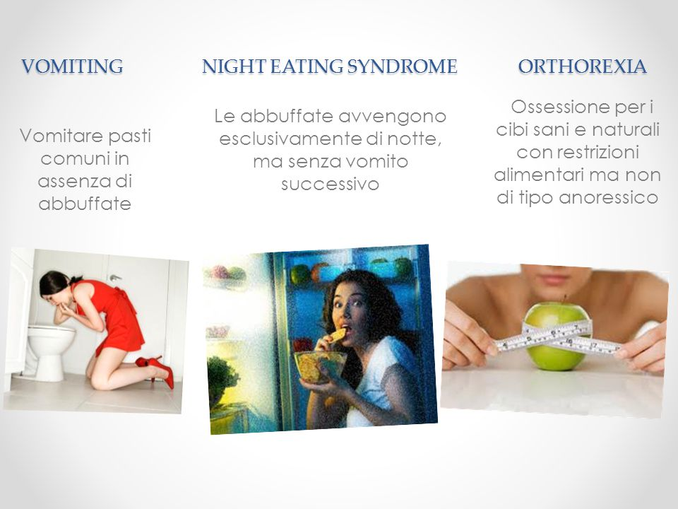 VOMITING NIGHT EATING SYNDROME ORTHOREXIA