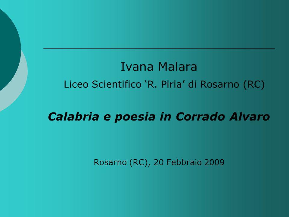 Calabria e poesia in Corrado Alvaro