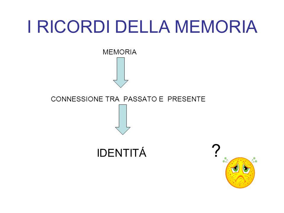 I RICORDI DELLA MEMORIA