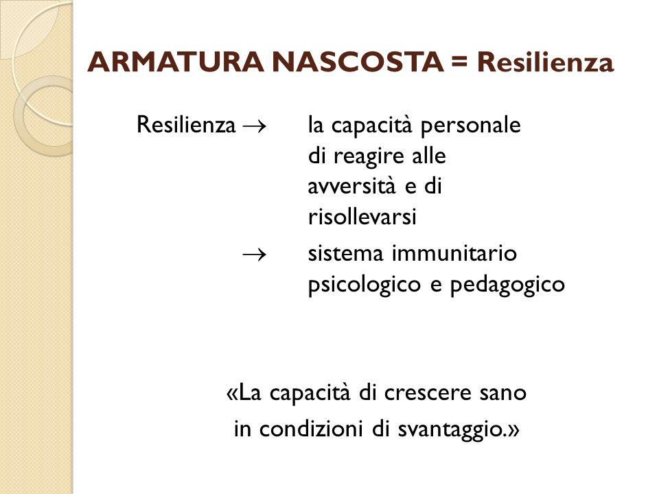 ARMATURA NASCOSTA = Resilienza