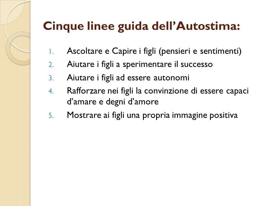 Cinque linee guida dell'Autostima: