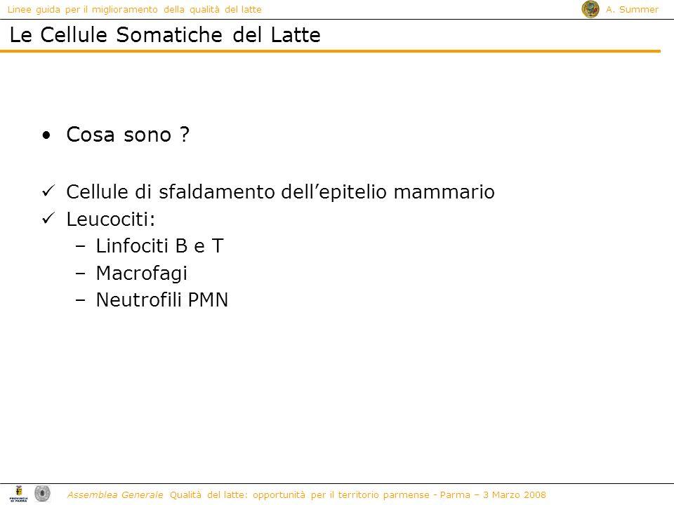 Le Cellule Somatiche del Latte
