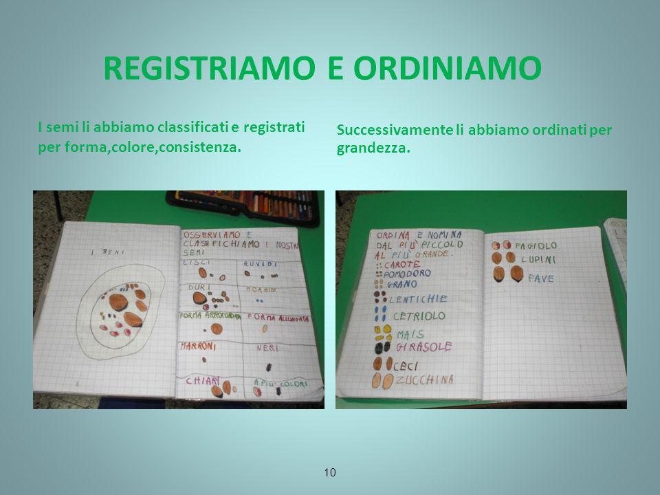 REGISTRIAMO E ORDINIAMO
