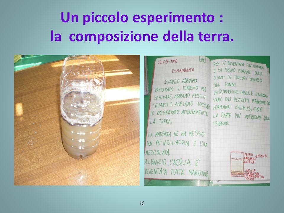 Un piccolo esperimento : la composizione della terra.