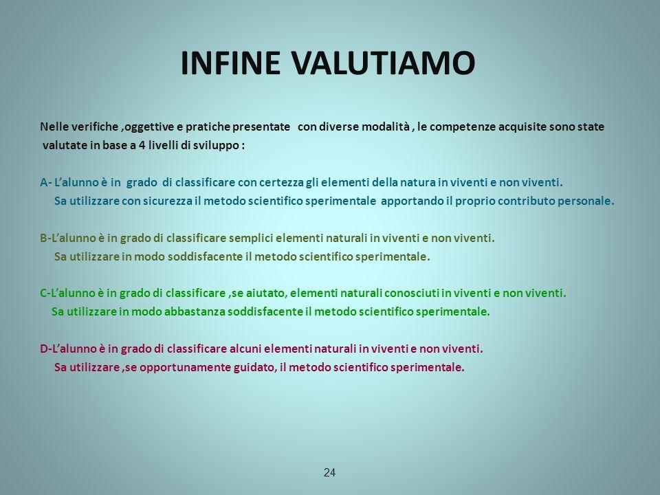 INFINE VALUTIAMO