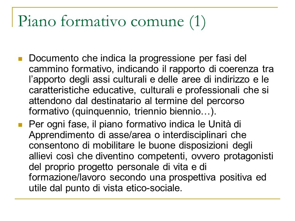 Piano formativo comune (1)