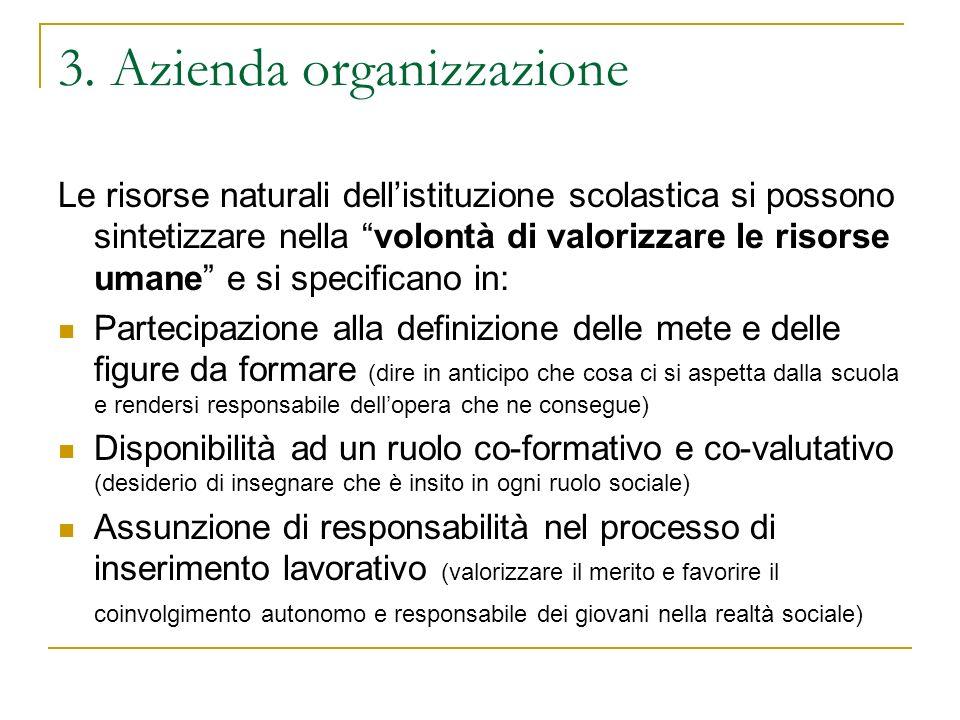 3. Azienda organizzazione