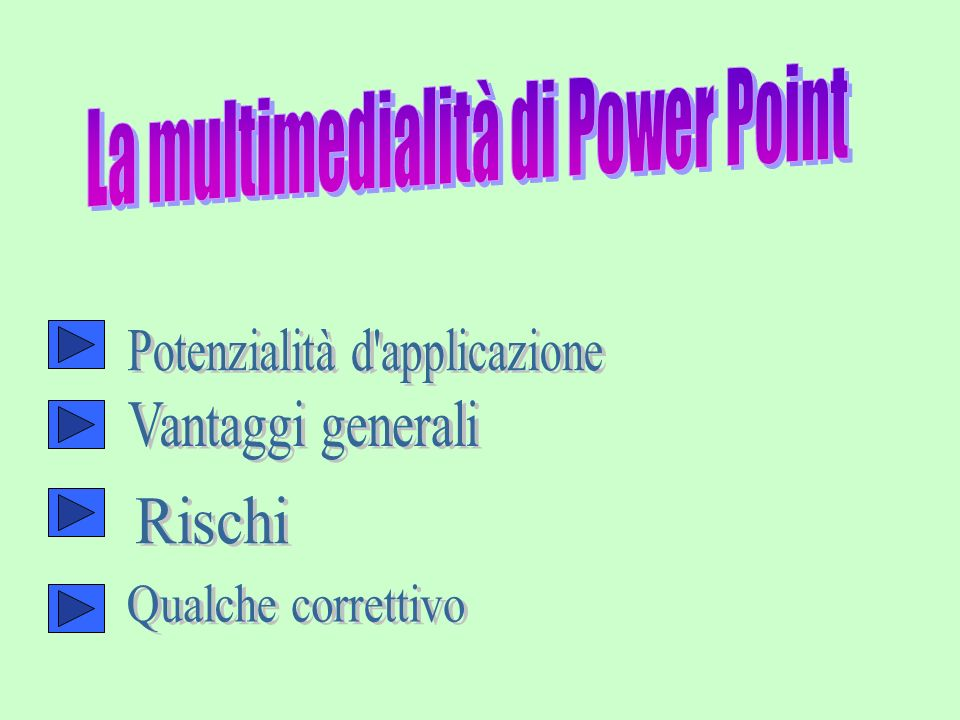 La multimedialità di Power Point