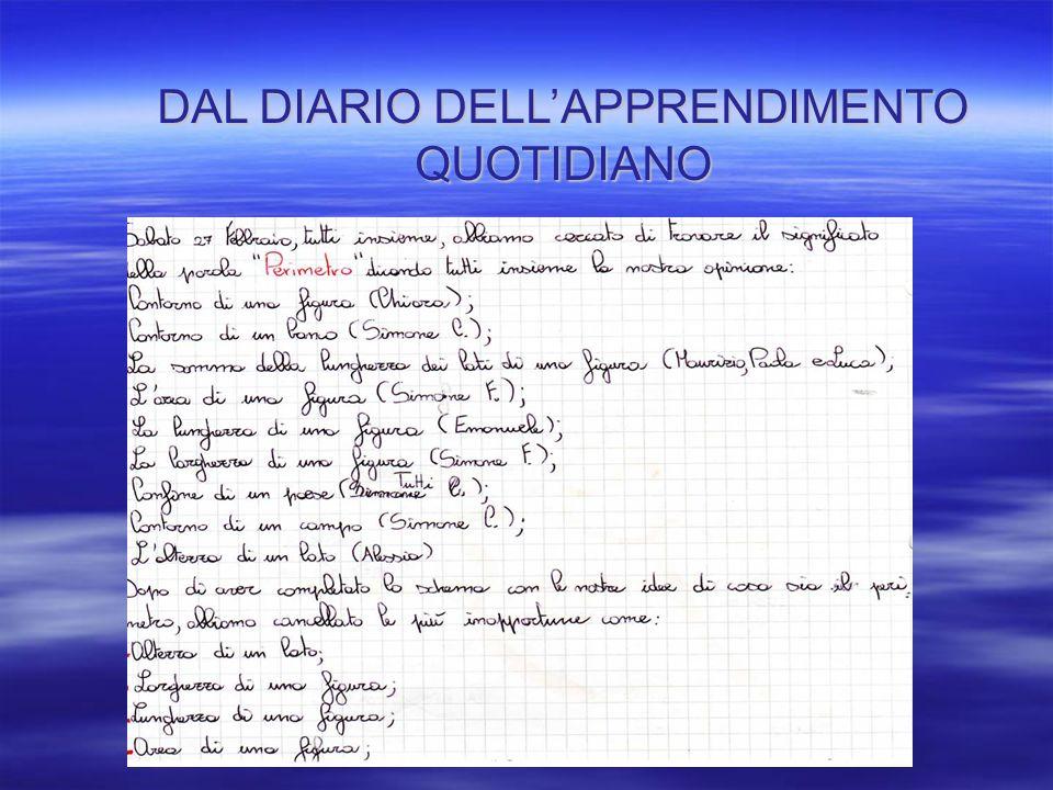 DAL DIARIO DELL'APPRENDIMENTO QUOTIDIANO
