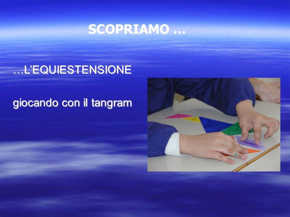 SCOPRIAMO … …L'EQUIESTENSIONE giocando con il tangram 32