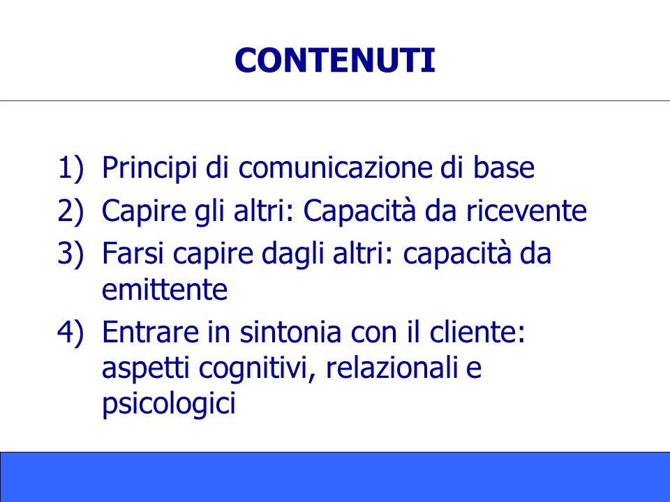 CONTENUTI Principi di comunicazione di base