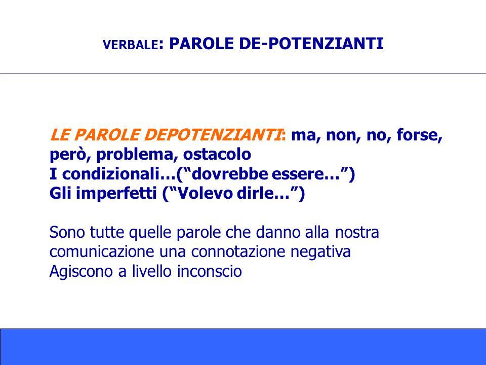 VERBALE: PAROLE DE-POTENZIANTI