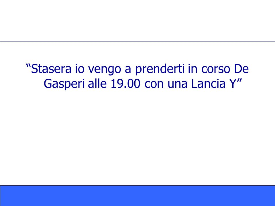 Stasera io vengo a prenderti in corso De Gasperi alle 19