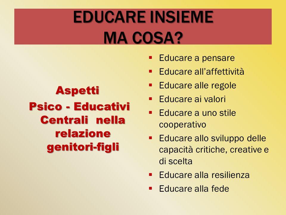 EDUCARE INSIEME MA COSA