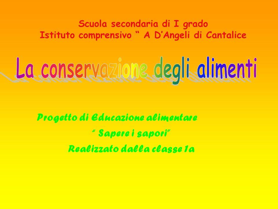 La conservazione degli alimenti Realizzato dalla classe 1a