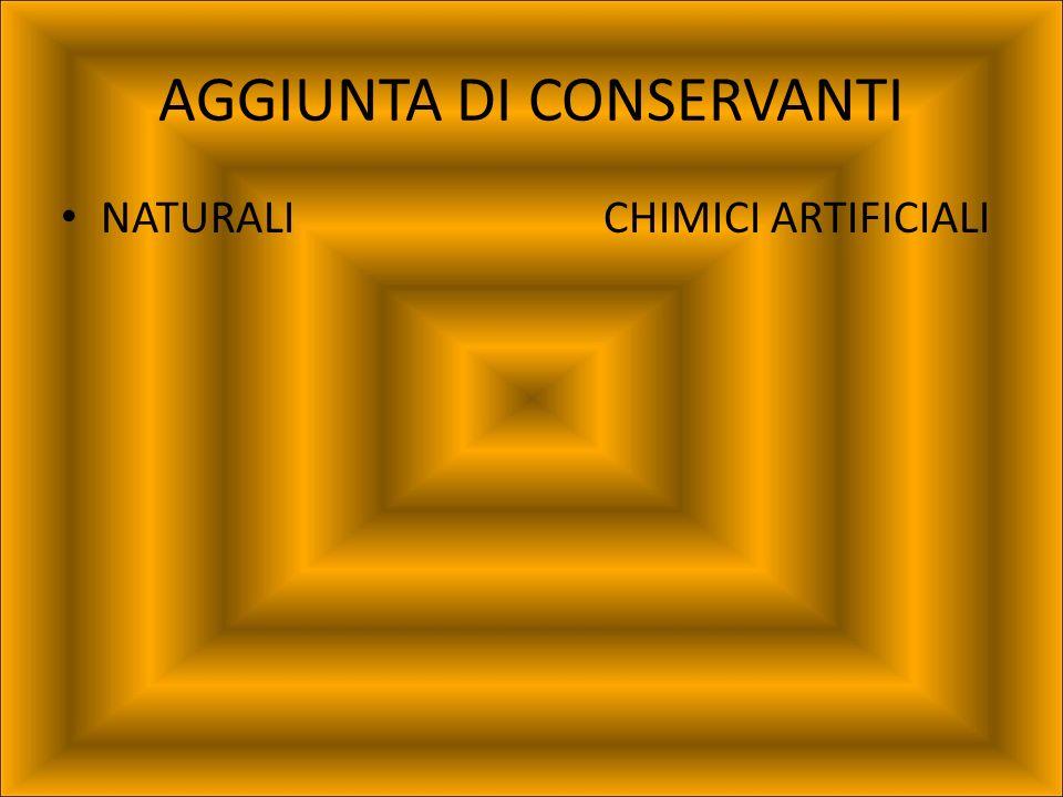 AGGIUNTA DI CONSERVANTI