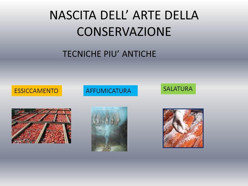 NASCITA DELL' ARTE DELLA CONSERVAZIONE