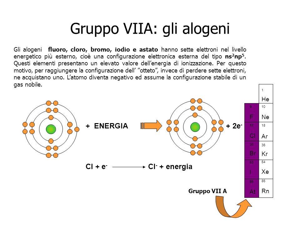 Gruppo VIIA: gli alogeni
