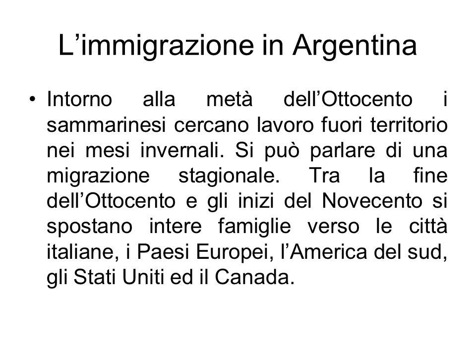 L'immigrazione in Argentina
