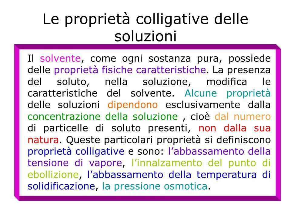 Le proprietà colligative delle soluzioni