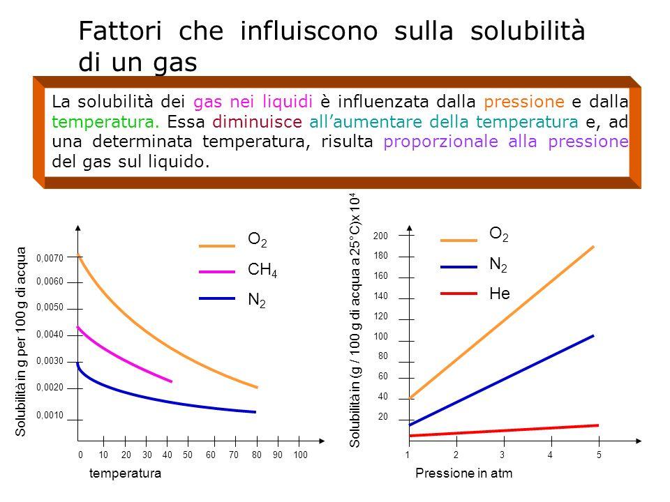 Fattori che influiscono sulla solubilità di un gas