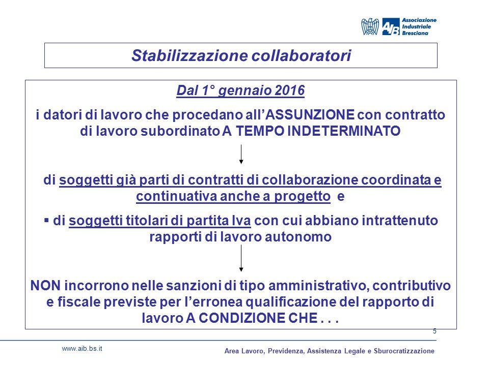 Stabilizzazione collaboratori