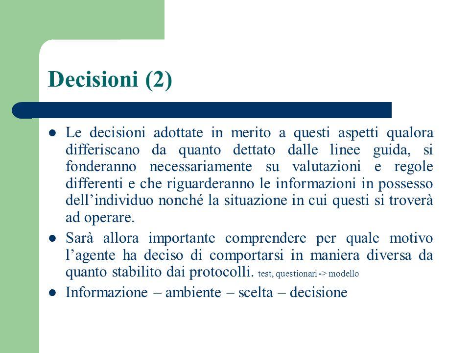 Decisioni (2)