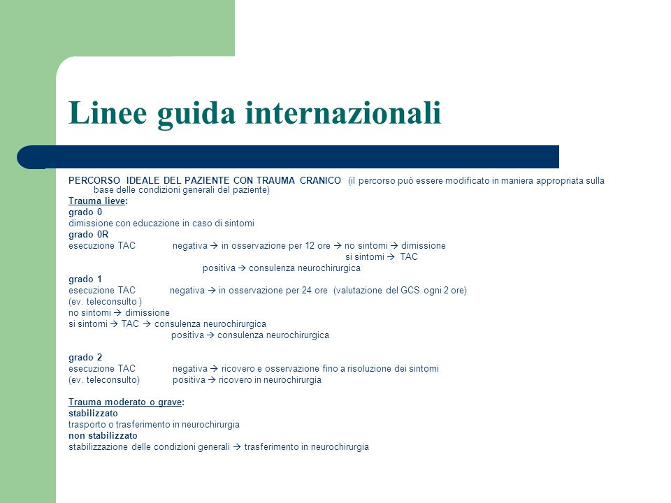 Linee guida internazionali
