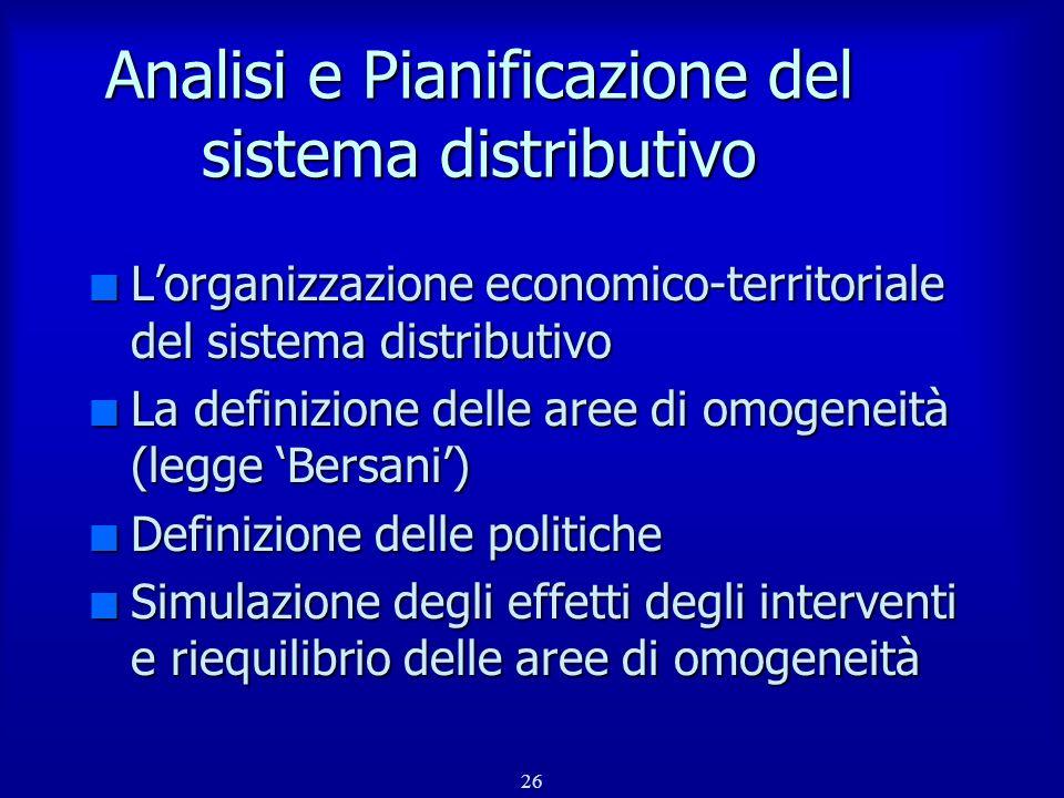 Analisi e Pianificazione del sistema distributivo